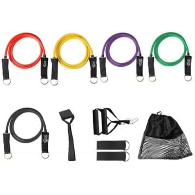 GRXDJ 11 Pieces Set Pull Rope Bodyweight Resistance Training Straps