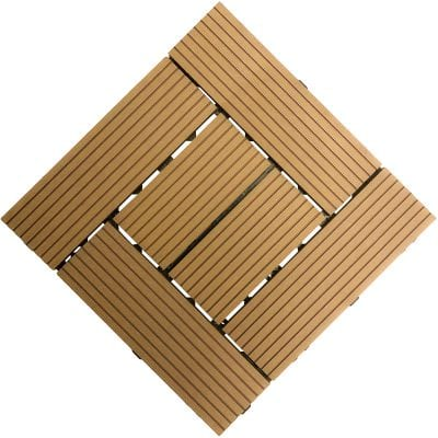 Samincom Patio and Deck Tiles Pack of 22