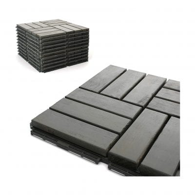 3rd Street Inn Deck Tiles Patio Pavers 12 x 12 Inches 6 Pack