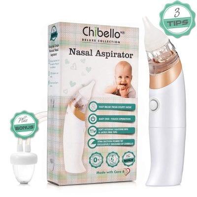 Chibello Baby Nasal Aspirator Safe Nose Suction