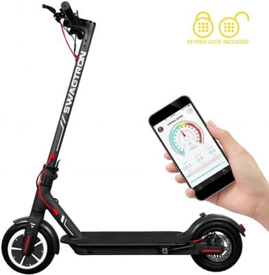 Swagtron High-Speed Electric Scooter 8.5 Inches Folding Portable