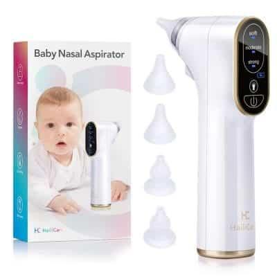 HailiCare Baby Nasal Aspirator Electric 4 Silicone Tips