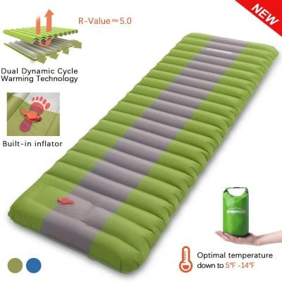Overmount Sleeping Pad Inflatable Extra Thickness Camping Tent Mattress
