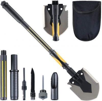 HARVET Portable 15 to 28 Inches Folding Shovel