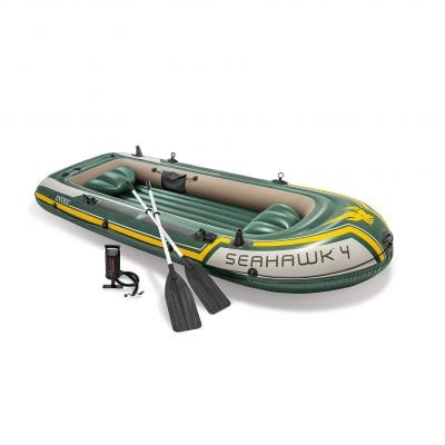 Intex Seahawk 4-Person Inflatable Boat with Aluminum Oar
