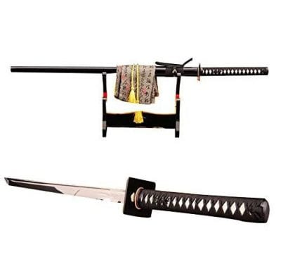 Lyueswood Japanese Full Tang Ninja Sword 1060 Steel