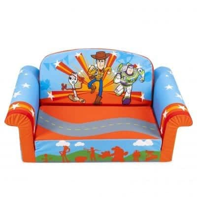 Marshmallow Furniture Children 2-In-1 Flip Up Open Foam Sofa