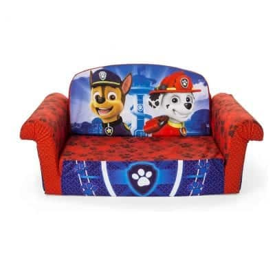 Marshmallow Furniture Children 2-In-1 Flip Up Open Foam Sofa