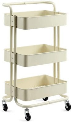 AMYAL 3-Tier Rolling Utility Cart Serving Trolley