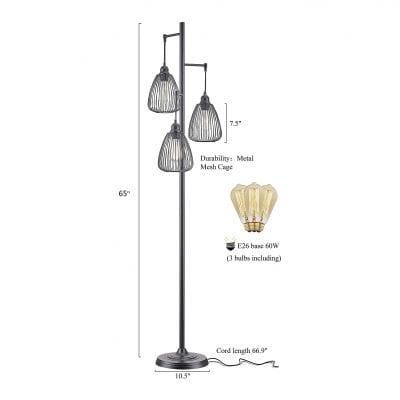 LeeZM Black Industrial Floor Lamp
