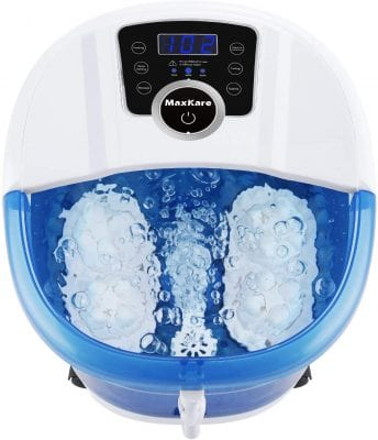 MaxKare 6-In-1 Foot Spa Massager with Vibration, Heat, and Bubbles