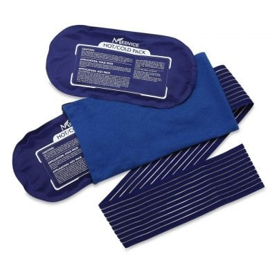 Medvice 2 Reusable Cold and Hot Ice Packs for Knees, Legs, Shoulders