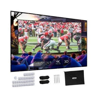 Projector Screen, Upgraded 180-Inch Screen