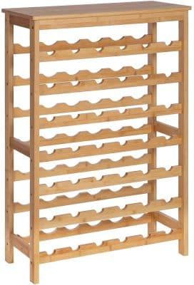 SONGMICS Bottles Bamboo Wine Rack