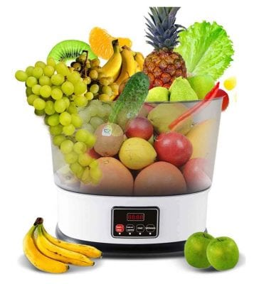 STEP STOOL Ultrasonic Ozone Vegetables Fruits Sterilizer
