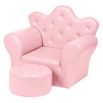 JOYMOR Kids' Sofa PVC Leather Princes Sofa