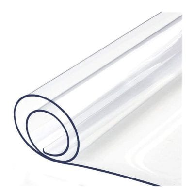 BigHala 16 x 48 Inches Clear Plastic Table Protector PVC Waterproof Cover