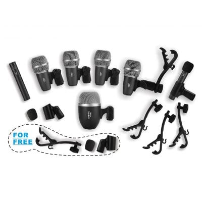 Heimu Wired Drum Microphone Kit for Drum