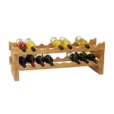 Oceanstar Bamboo Wine Rack