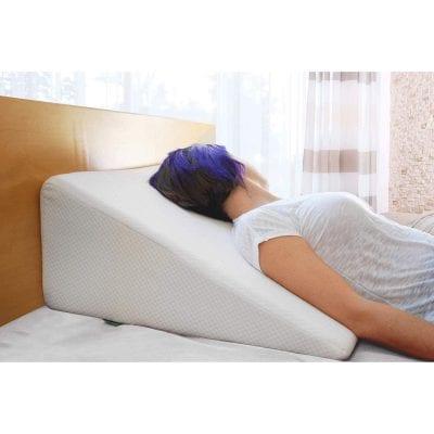 Cushy Foam Bed Wedge Pillow 1.5 Inches Memory Foam Top