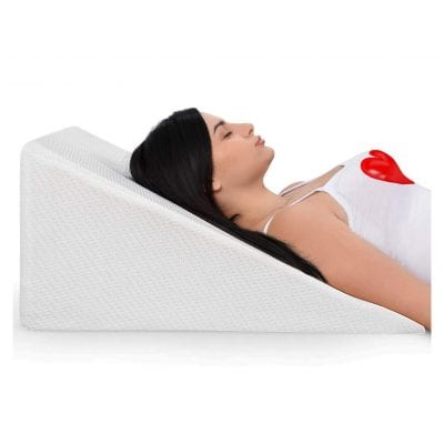 Ebung Bed Wedge Pillow with Memory Foam Top