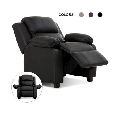 Costzon Kids Sofa Recliner PU Leather Armchair