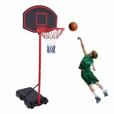 GreenGee Portable Basketball Hoop 5.8 to 7.4Ft Basketball Hoop