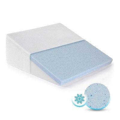 Healthex Bed Wedge Pillow Cooling Gel Memory Foam Top