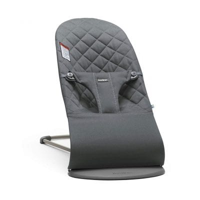 BABYBJÖRN Bouncer Bliss, Quilted Cotton, Anthracite