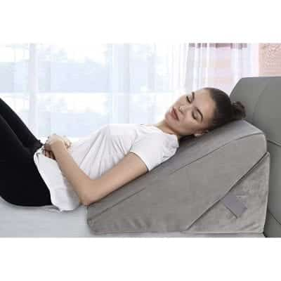 Bed Wedge Pillow Adjustable 9 and 12 Inches Memory Foam