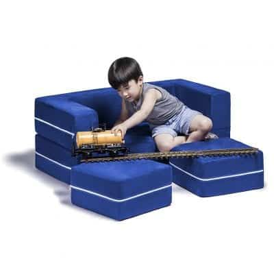 Jaxx Zipline Kids Modular Loveseat and Ottoman