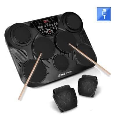 Pyle 7 Pads Digital Drum Kit Electronic Drum Set