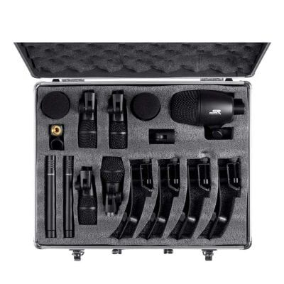 Stage Right Monoprice 7 Pieces Drum and Instrument Mic Kit