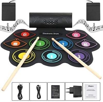 HLDWXN Electronic Drum Set Foldable Built-in Speakers