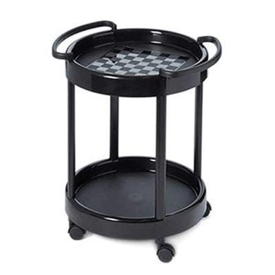 Plastmeccanica Tea Two Tier Round Table Trolley