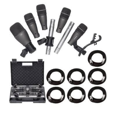 Samson Technologies 7 Pieces Drum Mic Kit