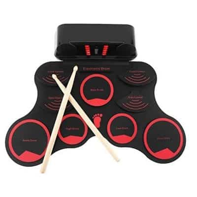 NOVIA Electronic Drum Portable 9 Silicone Pads Built-In Speakers