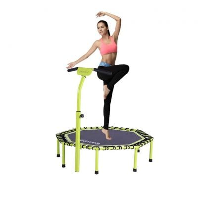 Newan 45 to 48 Inches Silent Trampoline 330lbs Exercise Trampoline