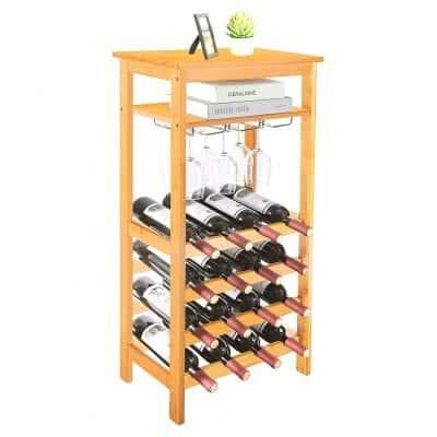 URFORESTIC Bamboo Wine Rack