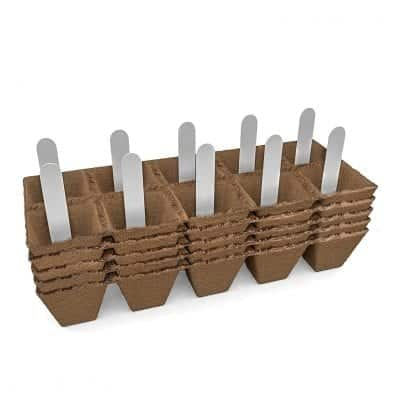 JOLLY GROW Peat Pots Kit - Biodegradable and Organic