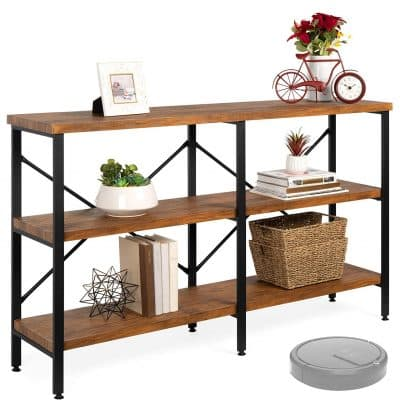 Best Choice Products 3 Tier Wood Console Table with Steel Frames