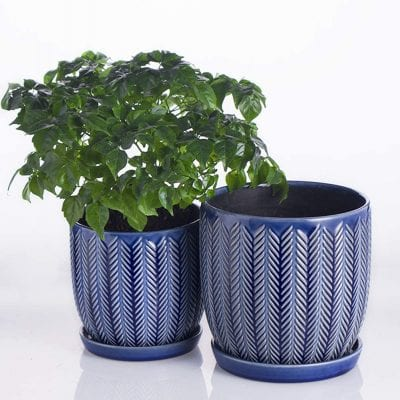 Voeveca Ceramic Garden Indoor Outdoor Planters Flower Pot
