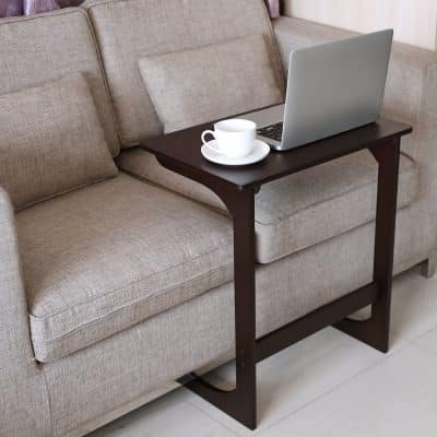 HOMFA Bamboo Snack Table Sofa Couch Table