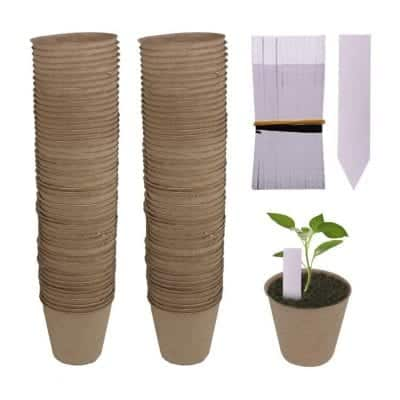 Huvai 100 Pack Biodegradable Peat Pots
