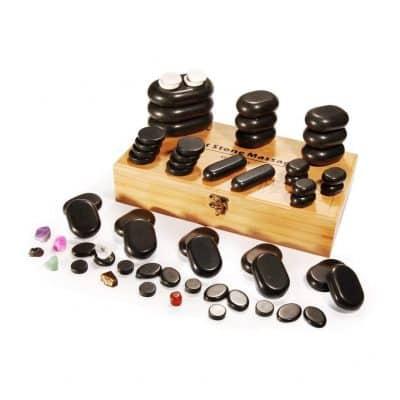 Master Massage 60-Piece Hot Stone Set
