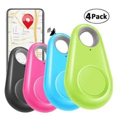 Camlinbo 4 Pack Smart GPS Tracker Key Finder