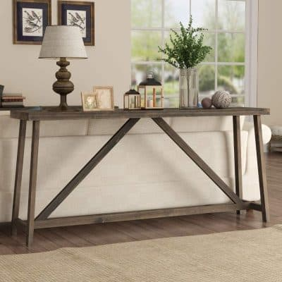 Tribesigns 70.9 Inches Extra Long Solid Wood Rustic Console Table
