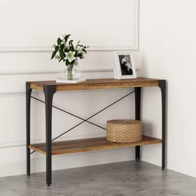 IRONCK Industrial Console Table Thick MDF Board
