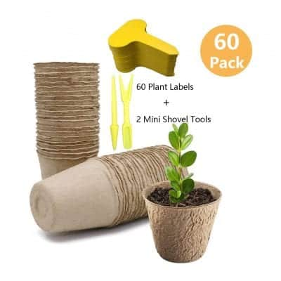 "SYITCUN 3"" Peat Pots, 100% Biodegradable"