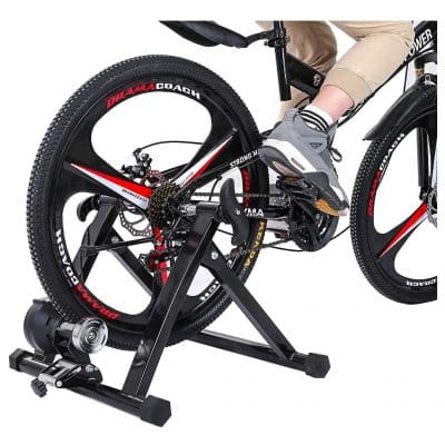 ZTTONE Bike Indoor Resistance Trainers Stationary Stand with Front Wheel Riser Block